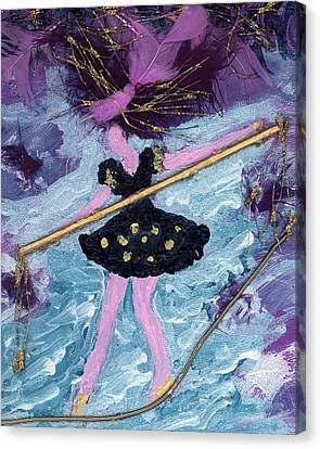 Althea Balances Her Life After Chemo Canvas Print by Annette McElhiney