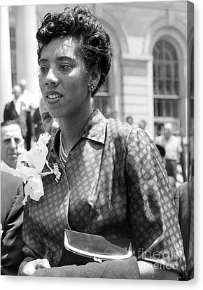 Althea Gibson, First African American Woman To Win A Grand Slam Title. 1957 Canvas Print by Anthony Calvacca