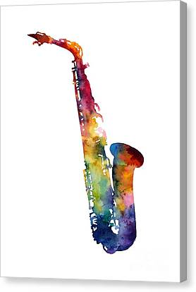 Alto Sax Canvas Print by Hailey E Herrera