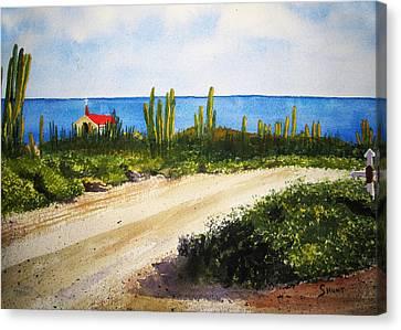 Alto Vista Chapel Canvas Print by Shirley Braithwaite Hunt