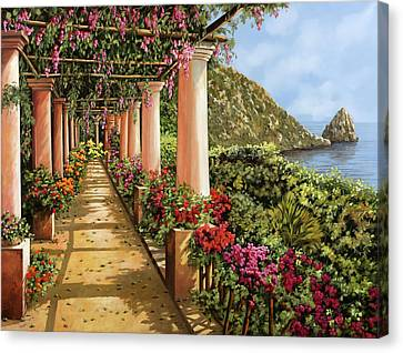 Canvas Print - Altre Colonne Sul Golfo by Guido Borelli