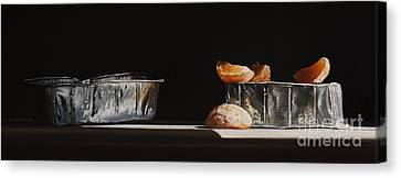 Aluminum With Clementine Canvas Print by Larry Preston