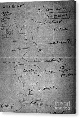 Alvarez Atomic Bomb Drawing, 1945 Canvas Print by Science Source