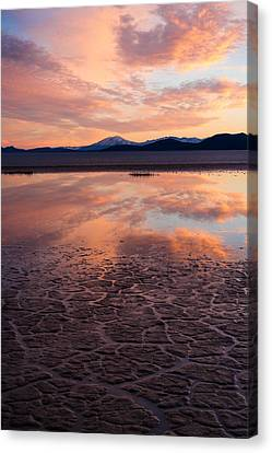 Canvas Print featuring the photograph Alvord Sunset by Brian Bonham