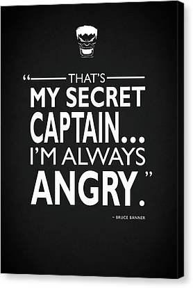 Always Angry Canvas Print by Mark Rogan