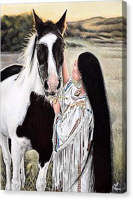 Always By My Side Canvas Print by Andrew Read