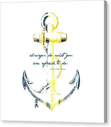 Always Do Anchor Canvas Print by Brandi Fitzgerald