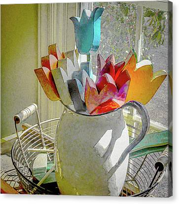 Always In Bloom Canvas Print by Robert Meyerson
