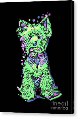 Always Keep Your Yorkie Around You Canvas Print by I Am Lalanny