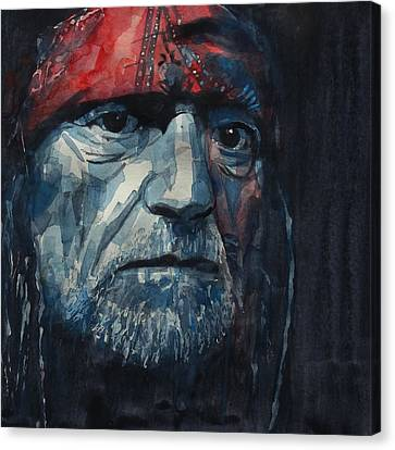 American Singer Canvas Print - Always On My Mind - Willie Nelson  by Paul Lovering