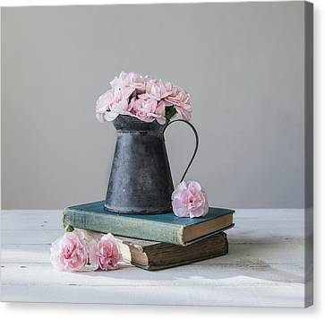 Pink Carnation Canvas Print - Always With Me by Kim Hojnacki