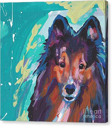 Shetland Sheepdog Canvas Print - Always Yours by Lea S