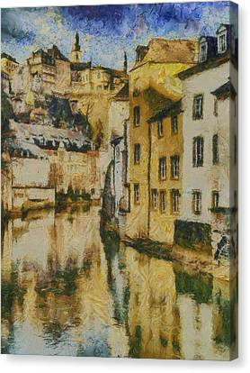 Alzette River Canvas Print by Aaron Stokes