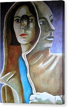 Am I The Child I Used To Be Or The Woman I Am Now Canvas Print by Tanni Koens