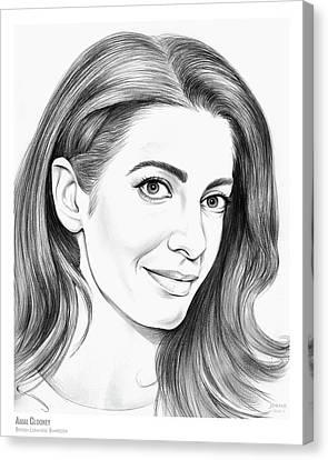 Clooney Canvas Print - Amal Clooney by Greg Joens