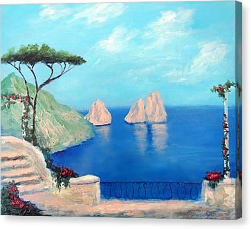 Amalfi  Beauty Canvas Print by Larry Cirigliano