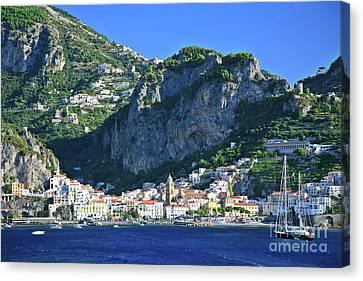 Amalfi Cove Canvas Print