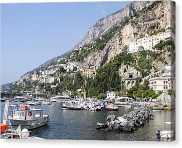 Amalfi Coast Italy Canvas Print by Allan Levin