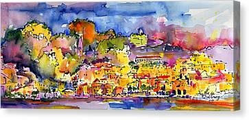 Amalfi Italy Coastline Travel Canvas Print by Ginette Callaway