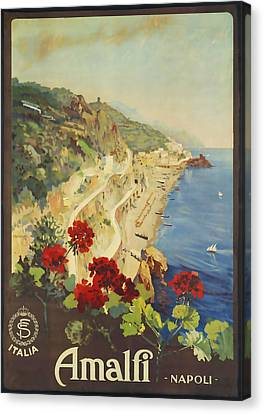 Amalfi Napoli Canvas Print