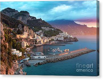 Amalfi Sunrise Canvas Print