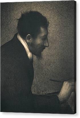 Seurat Canvas Print - Aman-jean by Georges-Pierre Seurat