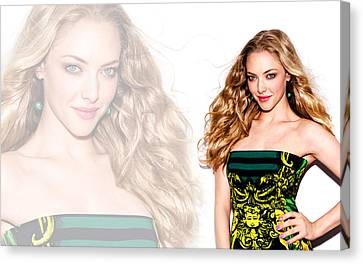 Amanda Seyfried 2014 Canvas Print by F S