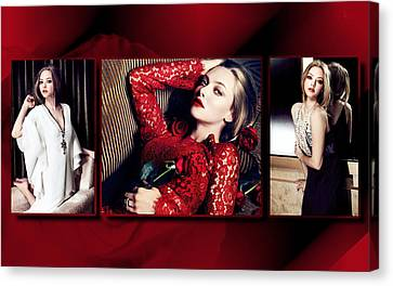 Amanda Seyfried 5 Canvas Print by F S