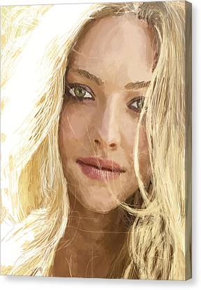 Amanda Seyfried Canvas Print by Andrei Jemets