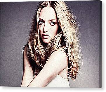 Amanda Seyfried Canvas Print by Iguanna Espinosa