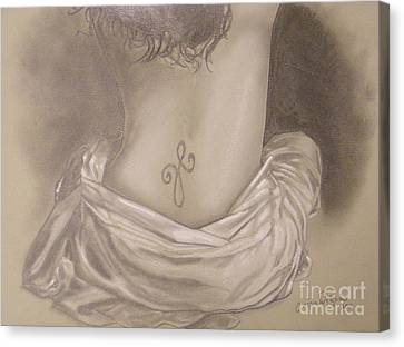 Amanda's Tattoo Canvas Print by Crispin  Delgado