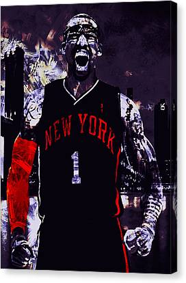 Amare Stoudemire  On Fire Canvas Print by Brian Reaves