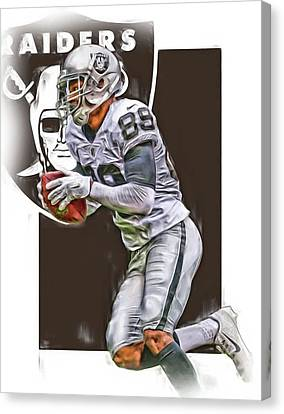Amari Cooper Oakland Raiders Oil Art Canvas Print by Joe Hamilton