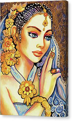 Canvas Print featuring the painting Amari by Eva Campbell