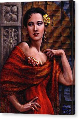 Amarillo Rose Canvas Print by Jane Bucci