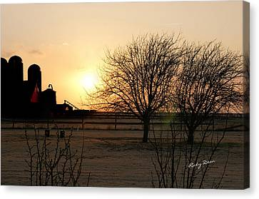 Amarillo Sunset Canvas Print by Ricky Dean