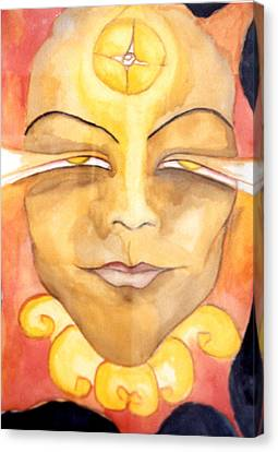 Amaterasu Canvas Print by Erika Brown