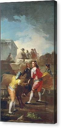 Public Holiday Canvas Print - Amateur Bullfight by Francisco de Goya