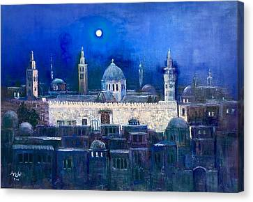 Amawee Mosquet  At Night Canvas Print by Laila Awad Jamaleldin