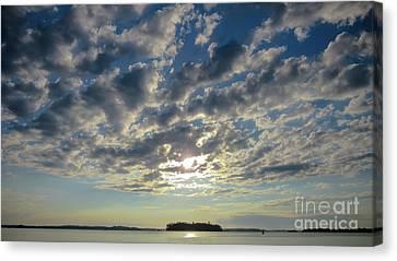 Amazing Cloud Formation Canvas Print by Cheryl Baxter