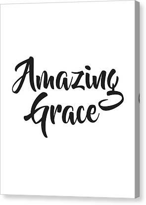 Grace Canvas Print - Amazing Grace by Studio Grafiikka