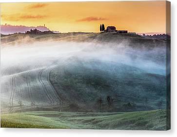 Amazing Landscape Of Tuscany Canvas Print by Evgeni Dinev
