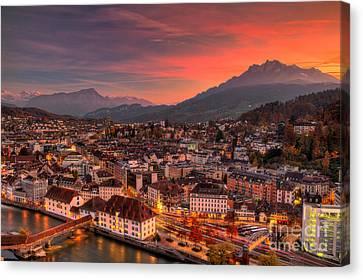 Amazing Lucerne Switzerland Canvas Print by Robert Peterson