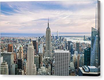 New York City Skyline Canvas Print - Amazing Manhattan by Az Jackson