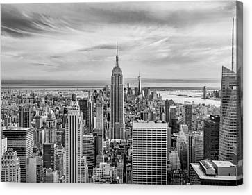 Amazing Manhattan Bw Canvas Print by Az Jackson