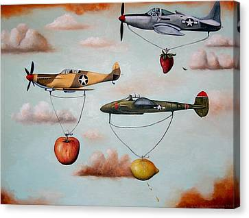 Amazing Race 2 Canvas Print by Leah Saulnier The Painting Maniac