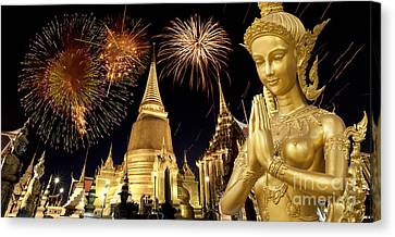 Amazing Thailand Canvas Print by Anek Suwannaphoom