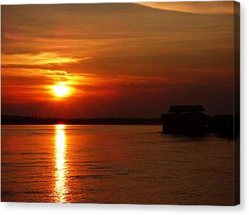 Amazon Sunset #2 Canvas Print by Michael Cook