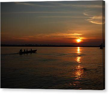 Amazon Sunset #3 Canvas Print by Michael Cook