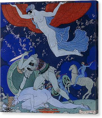 Amazons Canvas Print by Georges Barbier